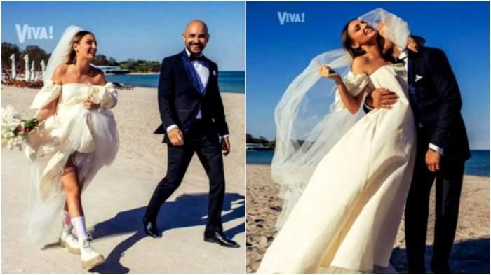 Alexandra Stan și Emanuel, în ziua nunții.