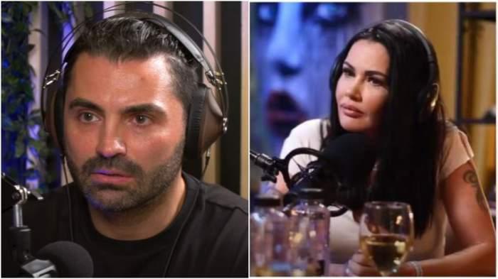 Colaj cu Pepe și Oana Zăvoranu în timpul unui interviu.