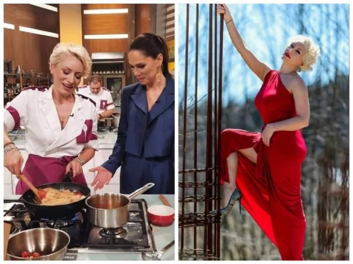 Colaj cu Nicoleta Pop la Chefi la cuțite și la o sesiune foto