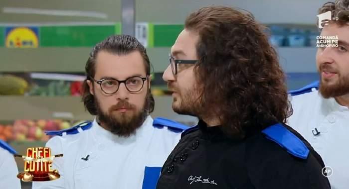 """Jurații de la Chefi la cuțite s-au """"bătut"""" în amulete! Florin Dumitrescu, mutare surprinzătoare în echipa lui: """"Șah-mat"""" / VIDEO"""