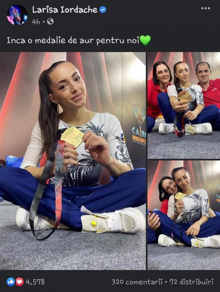 """Larisa Iordache a câștigat medalia de aur la Campionatul Mondial de Gimnastică din Cairo: """"Pentru noi"""""""