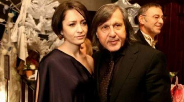 Amalia și Ilie Năstase la un eveniment, când formau un cuplu. Ea purta rochie neagră, iar el costum negru.