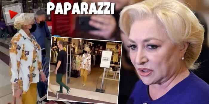 """VIDEO / Viorica Dăncilă, șefă și la shopping / """"Orice om îi este teamă"""" că ratează reducerile la hăinuțe"""