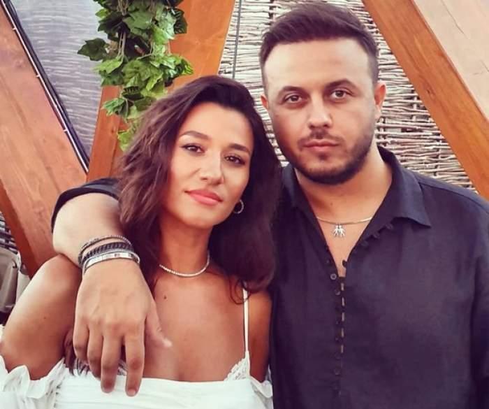 Claudia Pătrășcanu și Gabi Bădălău în perioada în care formau un cuplu, în club.