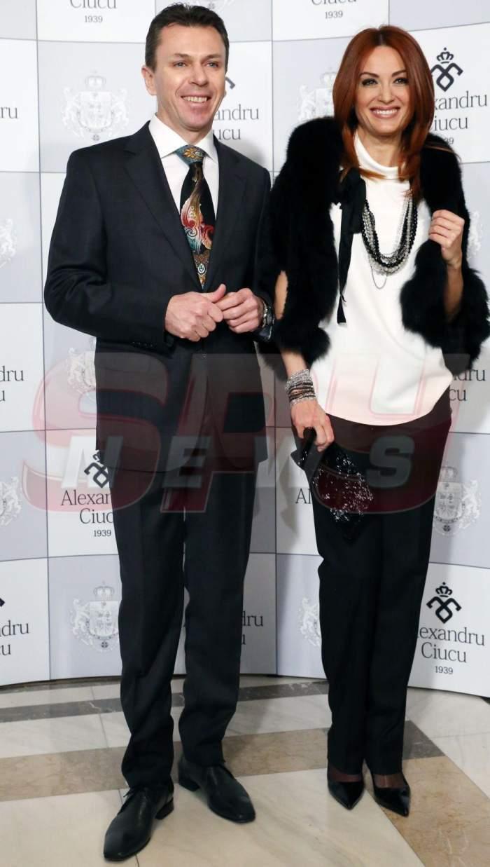 Anca Țurcașiu alături de Cristian Georgescu când erau împreună, la un eveniment moden.