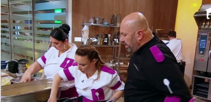 """Tensiuni în echipa mov de la Chefi la Cuțite. De ce s-au certat Narcisa Birjaru și Valentina Ioniță: """"Le-am zis că îmi bubuie capul"""" / VIDEO"""