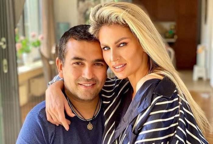 Andreea Bănică și soțul ei.