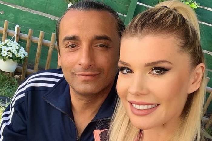 Diana Matei și Marian Cleante își fac un selfie. Amândoi zâmbesc. Ea are părul prins în coadă și el poartă bluză albastră cu dungi albe.