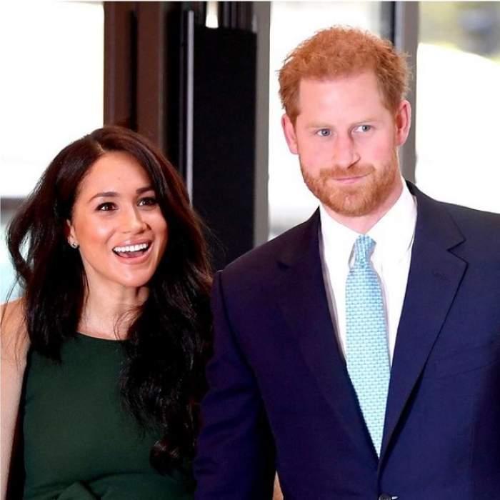 Prințul  Harry la brațul lui Meghan Markle