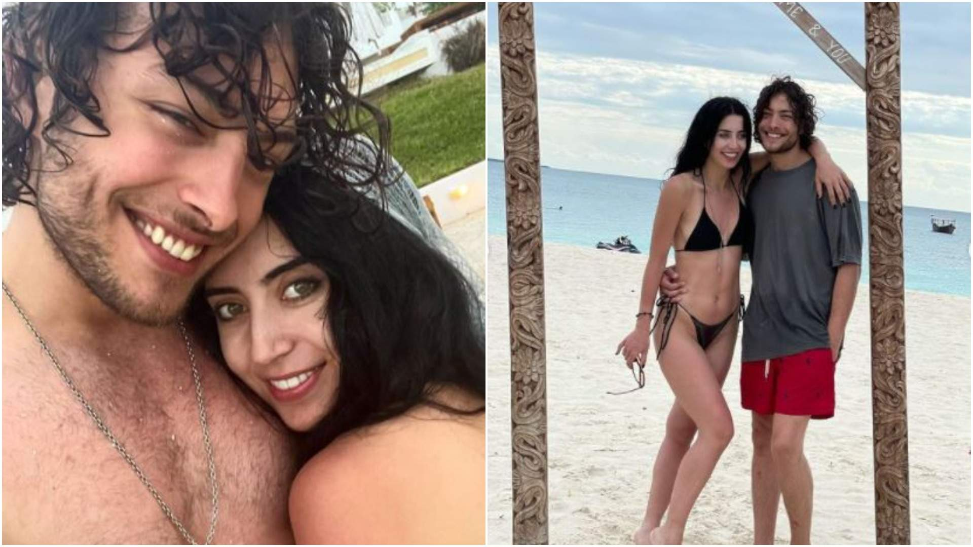 Toto Dumitrescu alături de iubita sa, în vacanță.