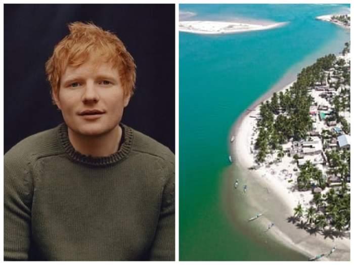 Ed Sheeran  și o insulă