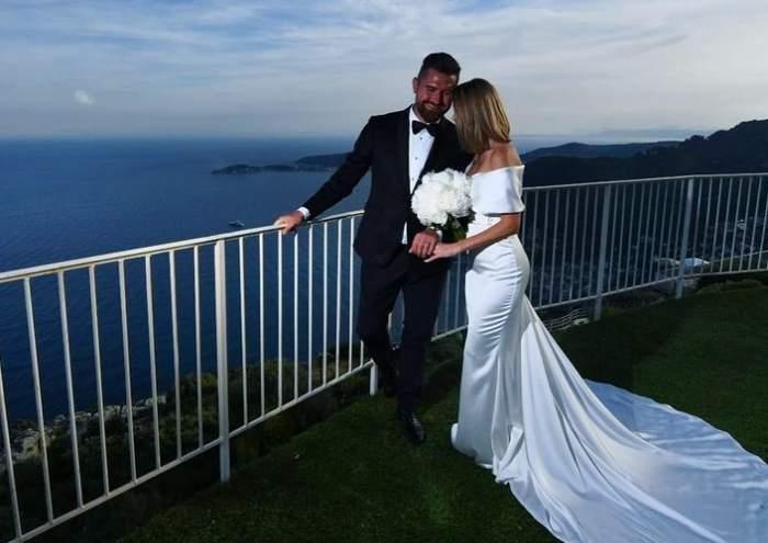 denisa tanase si sotul ei la nunta