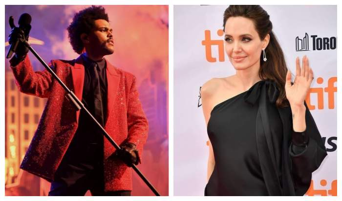 Angelina Jolie, surprinsă alături de cântărețul The Weeknd. Ce apropieri suspecte au avut la un concert din Los Angeles / FOTO