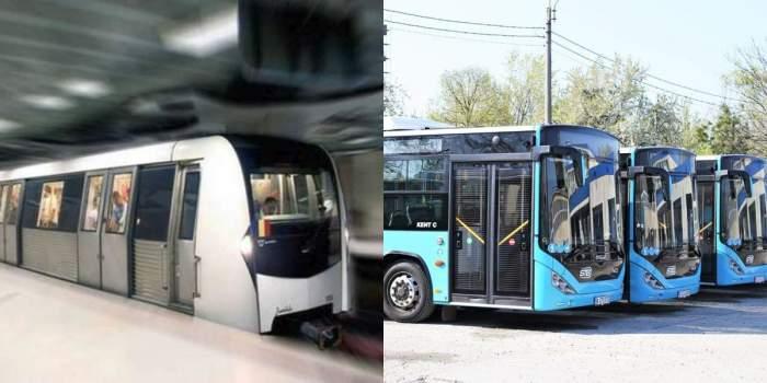 metrou si autobuze colaj