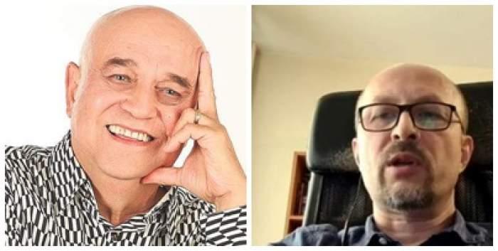Colaj foto cu Benone Sinulescu și fostul său impresar