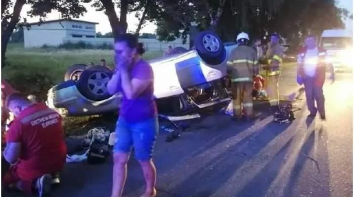 Accident mortal în Kiev! 7 copii se aflau în portbagajul unei mașini care s-a răsturnat. Un băiețel și șoferul au murit