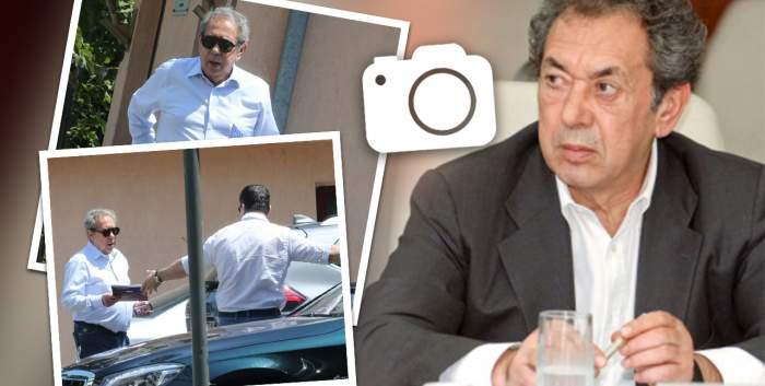 """Nicolae Badea se poate baza în orice moment pe angajații lui. Afaceristul, surprins în timp ce este """"răsfățat"""" de șoferul său / PAPARAZZI"""