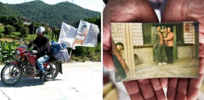 Un bărbat a mers jumătate de milion de kilometri cu motocicleta în căutarea fiului său răpit în urma cu 24 de ani. Cum a reușit să îl găsească