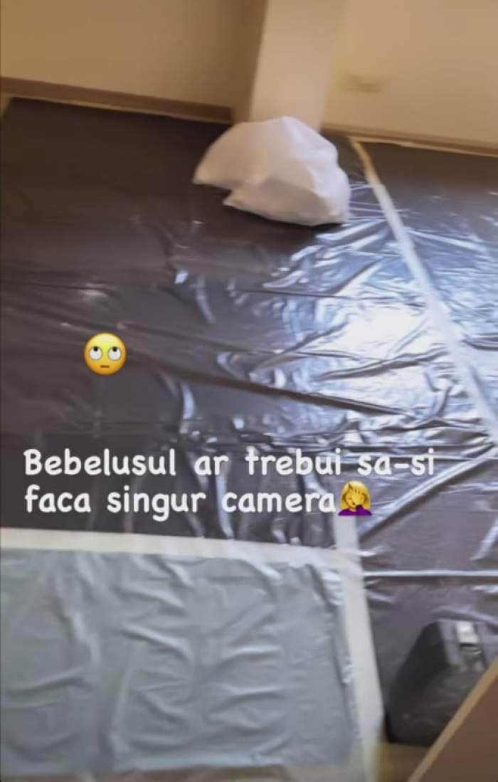 Imagine cu camera în lucru a bebelușului Gabrielei Prisacariu