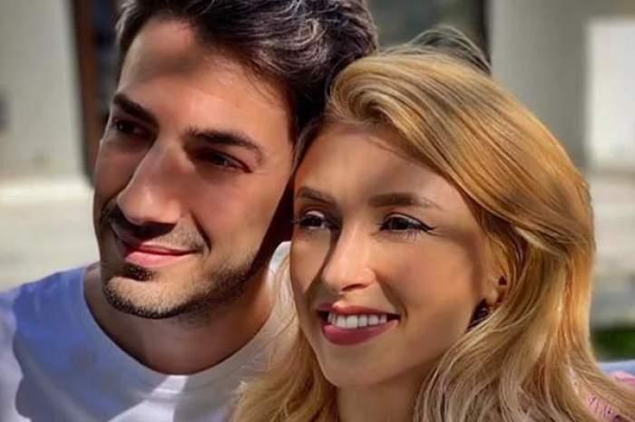 Tiberiu Argint și Andreea Bălan, îmbrățișați și zâmbitori