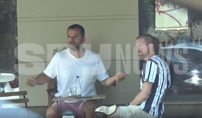 Marius Novanc, antrenor la terasă. Fostul handbalist a facut show pentru prieteni / PAPARAZZI