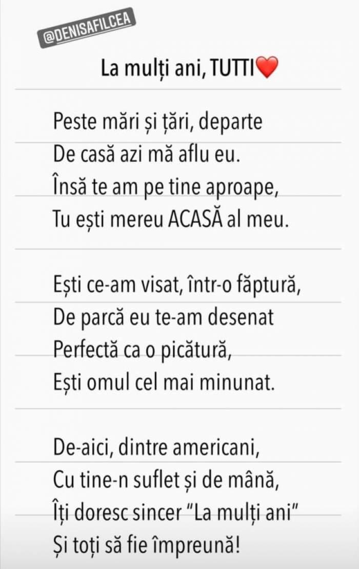 Poezia lui Flick pentru Denisa Hodișan