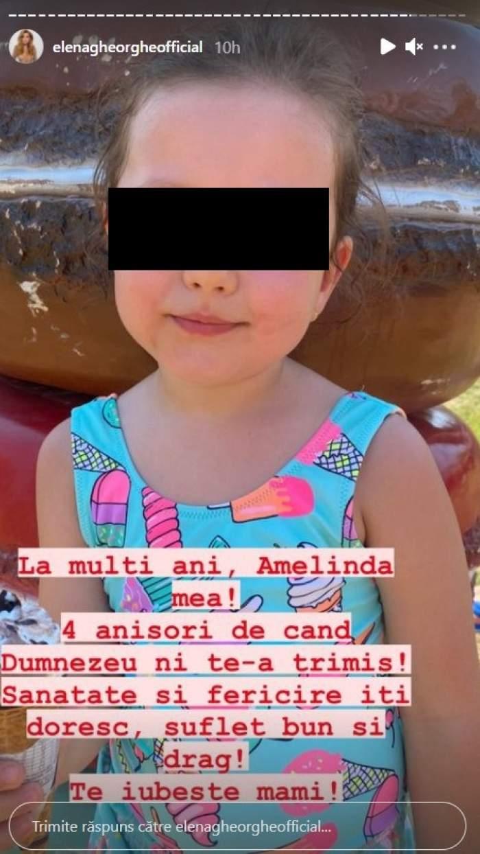 """Elena Gheorghe, mesaj emoționant de ziua de naștere a fiicei sale. Micuța Amelie a împlinit 4 ani: """"Ești o minune"""" / FOTO"""