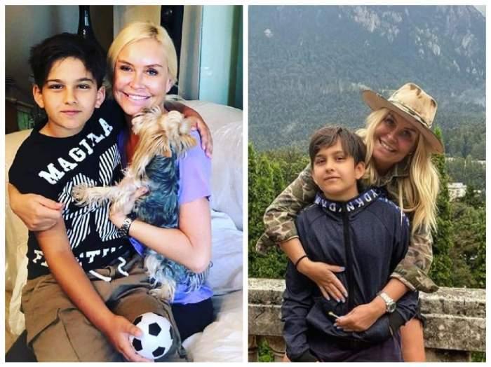 Colaj foto cu Vica Blochina și fiul ei