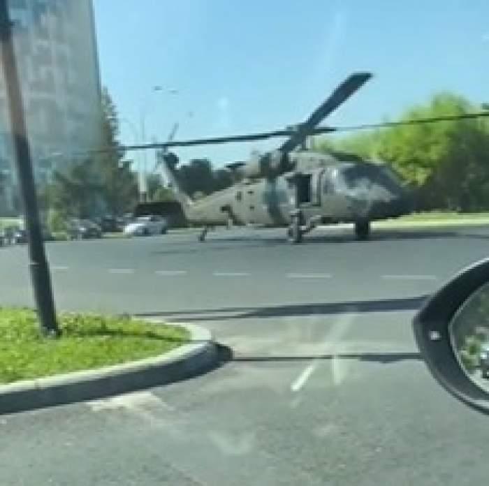 """Reacția Ambasadei SUA după aterizarea forțată a elicopterului militar în București: """"Înțelegem că nu au existat răniți"""""""