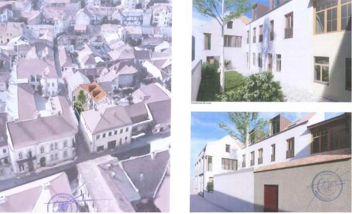 Colaj foto cu clădirile Andreei Esca