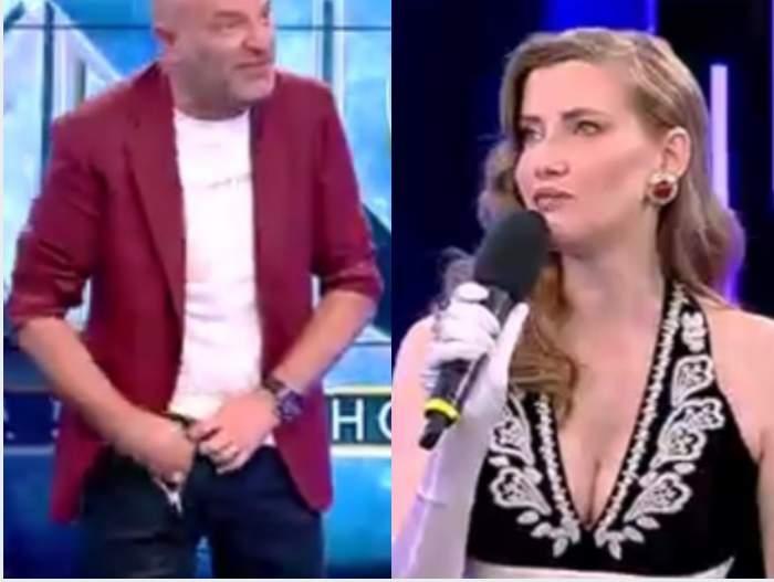 """Iulia Albu l-a provocat pe Dan Capatos să se ridice de la pupitru, în platoul Xtra Night Show: """"Ia să văd ce ai pe dedesubt"""" / VIDEO"""