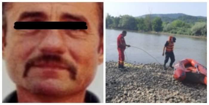 Colaj foto cu bărbatul înecat și salvatorii