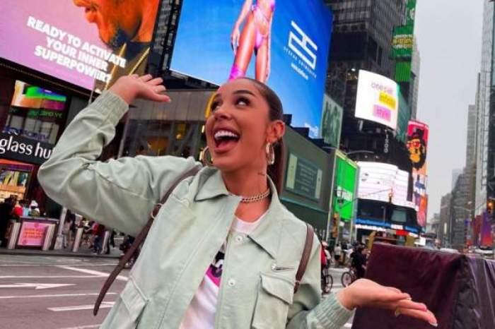 Ștefania, fericită, în SUA, cu imaginea sa pe străzile orașului