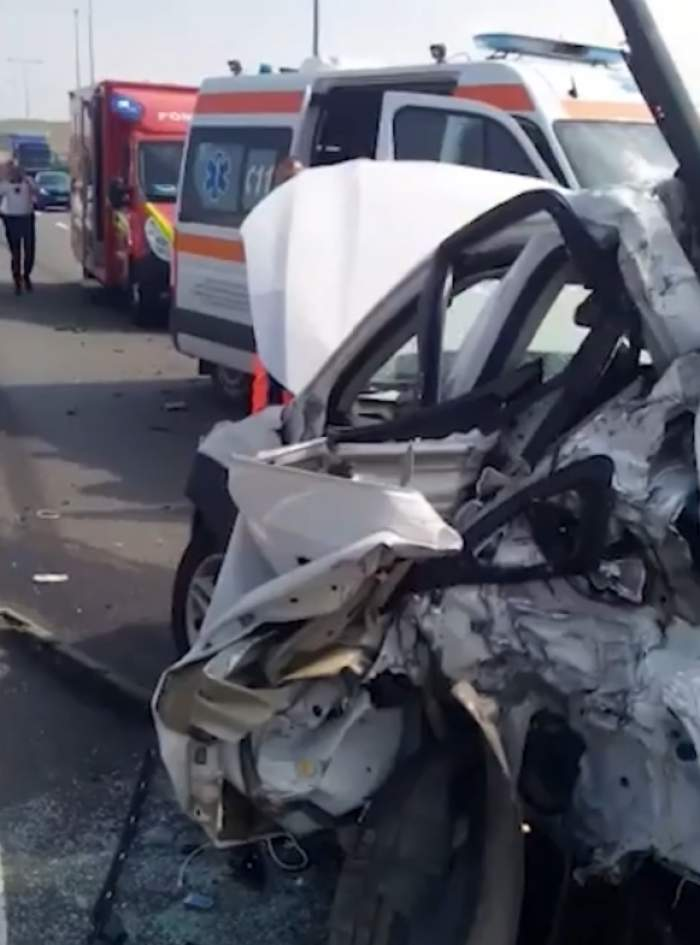 accident masina alba