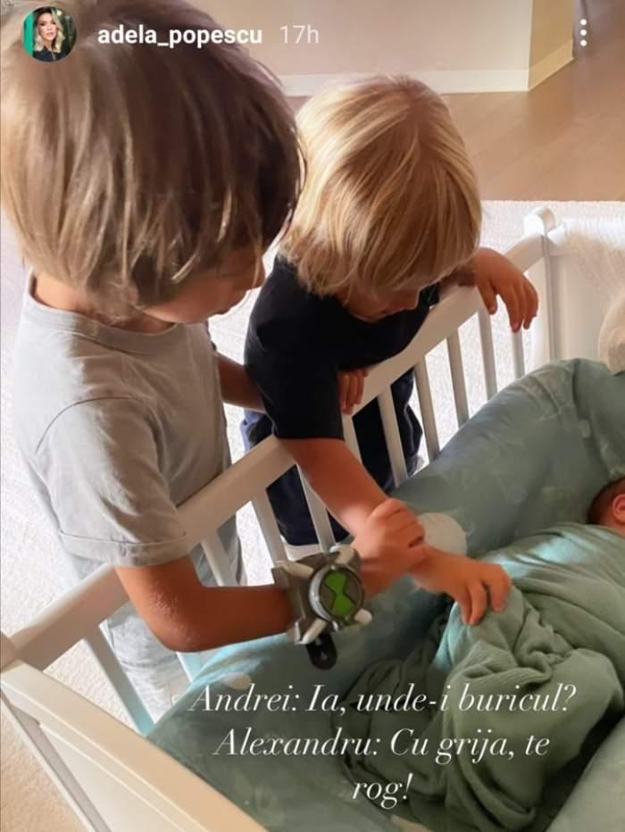 Cei trei copii ai Adelei Popescu și ai lui Radu Vâlcan