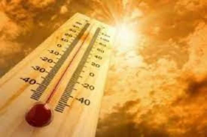 Colaj foto cu un termometru și un soare