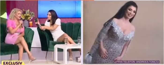 Sânziana Buruiană la Antena Stars, colaj foto cu Andreea Tonciu