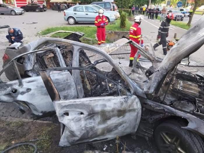 Alertă cu bombă, chiar lângă casa afaceristului ucis la Arad. Cazul a fost rezolvat de un câine polițist / FOTO