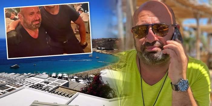 Cătălin Scărlătescu, întâlnire neașteptată în vacanța din Grecia. Cu cine a dat nas în nas juratul Chefi la cuțite / FOTO