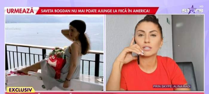 Captură din emisiune cu Alina Radi