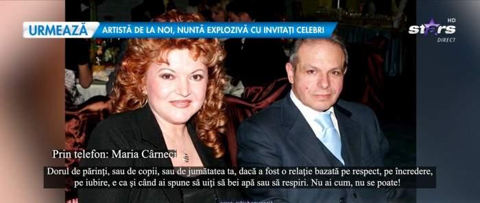Poză cu Maria Cârneci și soțul ei