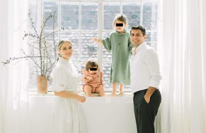 laura cosoi si sotul ei sedinta foto cu copiii