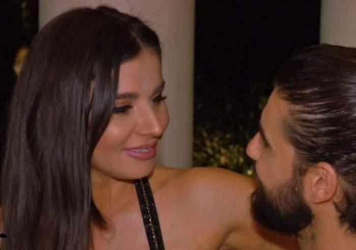 Ana Bene și Andi Constantin în timpul emisiunii Burlacul.