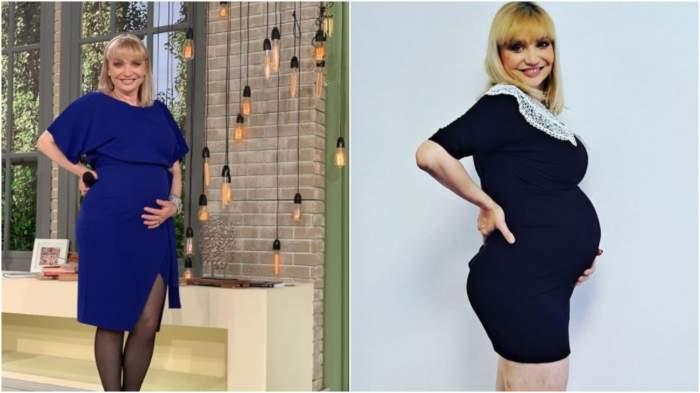 Cristina Cioran cu burtica de gravidă la vedere.