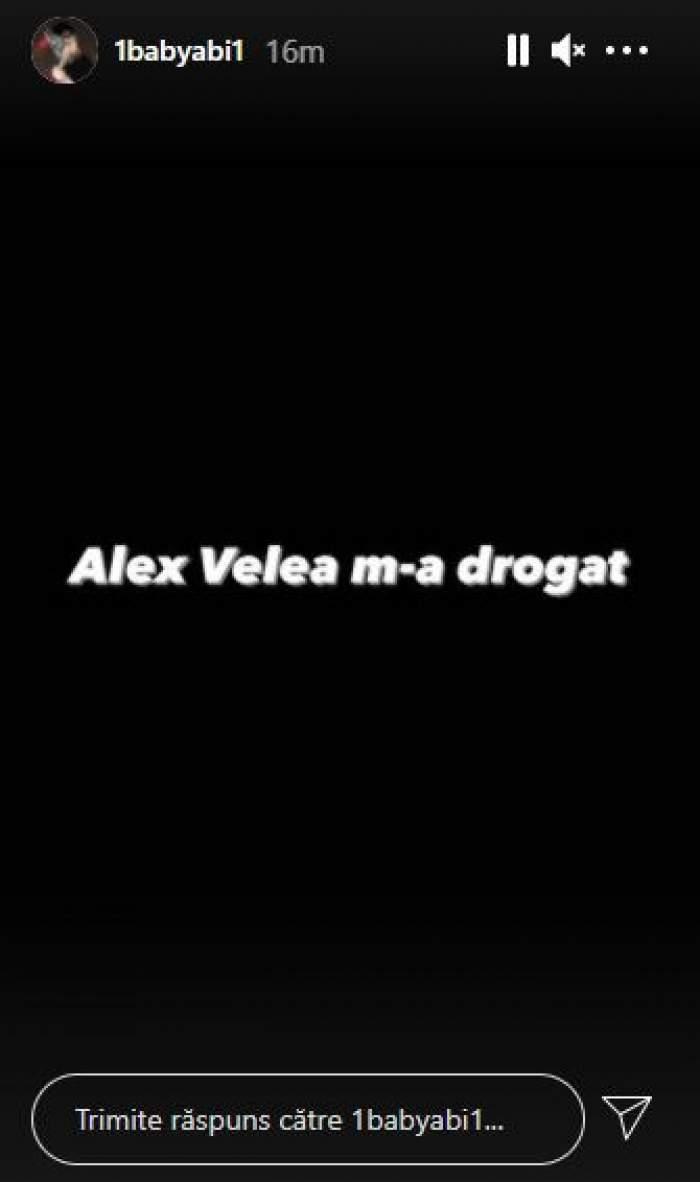 """Abi Talent reia scandalul cu Alex Velea: """"M-a drogat!"""" Artistul, acuzații grave la adresa iubitului Antoniei"""