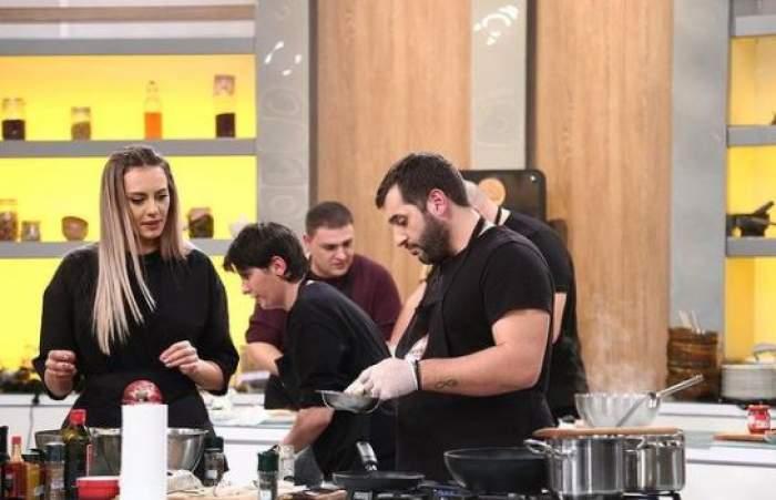 Antonia Ștefănescu și Vincenzo Aiello la Chefi la cuțite.