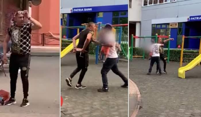 Scene de groază la un loc de joacă din Cluj-Napoca. Un individ a început să amenințe o mamă cu un copil în văzul tuturor