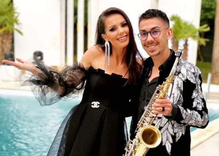 Armin Nicoară și Georgiana Lobonț, îmbrățișați și fericiți