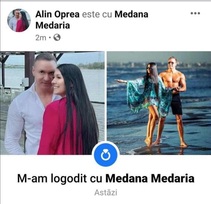 Colaj foto cu Alin Oprea și Medana Medaria