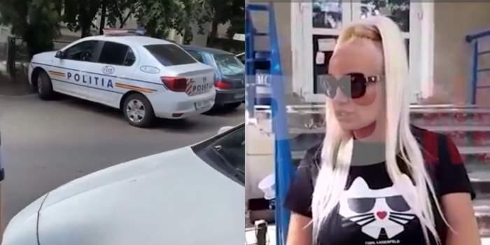 """Agresorul Simonei Trașcă a chemat poliția la blocul blondinei! Vedeta a răbufnit de față cu organele legii: """"El mă urmărește de atâta timp"""" / VIDEO"""